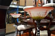Sale 8147 - Lot 1075 - Pair of Glass Shade Up Lamps