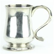 Sale 8264 - Lot 30 - English Hallmarked Sterling Silver George III Tankard