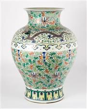 Sale 8536 - Lot 45 - A Yongzheng style Chinese famille rose vase with floral and dragon design, Yongzheng six character mark to base, H 51cm