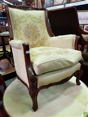 Sale 8566 - Lot 1189 - French Style Upholstered Lounge Chair