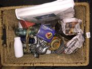 Sale 8659 - Lot 2483 - Basket of Sundries Containing Crystal Dolphin, Elephants, Xmas Wares