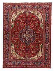 Sale 8740C - Lot 41 - A Persian Tabriz Wool And Silk Inlaid Pile, 340 x 250cm