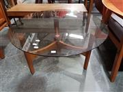 Sale 8805 - Lot 1034 - T. H Brown Glass Top Coffee Table