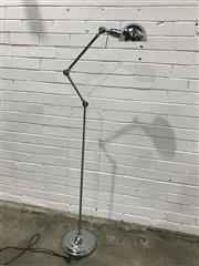 Sale 9059 - Lot 1068 - Chrome floor Lamp with Articulated Arm (h:152cm)