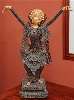 Sale 9108H - Lot 64 - A Balinese figure of a dancer, Approx Height 80cm