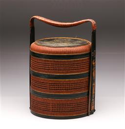 Sale 9128 - Lot 512 - Wicker Chinese rice carrier (H:37cm)
