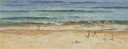 Sale 9170 - Lot 584 - NEALE JOSEPH (1961 - ) Surfside II oil on board 24 x 62.5 cm (frame: 59 x 96 x 3 cm) signed lower right, inscribed and titled verso