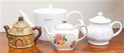 Sale 9190W - Lot 80 - Small collection of teapots including Royal Doulton, Sadler and a Japanese example.