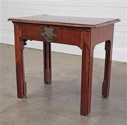 Sale 9215 - Lot 1082 - Rare George III Mahogany Architects Concertina Desk, the rectangular adjustable top with pinched corners & cross-banded edge, with...