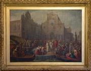 Sale 7962B - Lot 55 - Vincenzo Giacomelli (1841 - 1890) The Marriage of the Queen of Cyprus, Caterina Cornaro (In Venice)