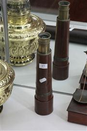 Sale 8024 - Lot 49 - Junior Leather Bound Brass Telescope by P.W.Pearce