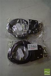 Sale 8497 - Lot 2346 - 2 Sets Handcuffs With Keys