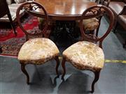 Sale 8700 - Lot 1026 - Set of Four Mahogany Balloon Back Dining Chairs