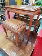 Sale 8700 - Lot 1071 - Nest of Two Oriental Style Side Tables