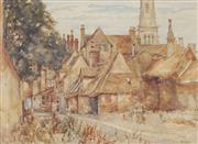 Sale 8751 - Lot 2080 - John Doddy Walker (1863 - 1925) - Country Cottage 27 x 37cm