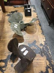 Sale 8740 - Lot 1489 - Collection of Cast Iron Propeller, Shoe Last and Weight
