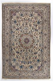 Sale 8780C - Lot 232 - A Persian Nain Super Fine Wool And Silk Inlaid Pile, 311 x 200cm
