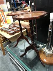 Sale 8854 - Lot 1040 - Pair Of Timber Wine Tables