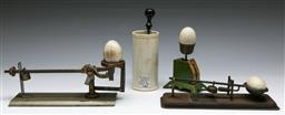 Sale 9148 - Lot 10 - Collection of egg related kitchenwares inc three scales and The Gourmet Egg Beater No2