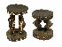 Sale 3850 - Lot 43 - PAIR OF SEPIK STOOLS PAPUA NEW GUINEA
