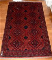 Sale 8088A - Lot 96 - Hand knotted Afghan woollen rug (194 xc 123cm)