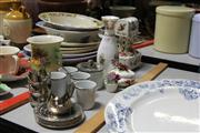 Sale 8169 - Lot 2287 - Royal Albert Country Roses Wares & Others incl Music Box (AF) & AN Italian Silver Plated & Porcelain Coffee Set