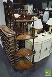 Sale 8326 - Lot 1711 - Inlaid 4 Tier Whatnot
