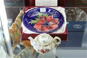 Sale 8346 - Lot 54 - Moorcroft Limited Edition Dish for E A Joyce & Son & Japanese Export Teapot