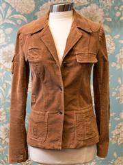 Sale 8474A - Lot 89 - A retro style Sass & Bide brown corduroy jacket - Condition: Very Good - Size 10
