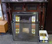 Sale 8550 - Lot 1304 - Victorian Tiled Cast Iron Fireplace with Timber Surround