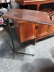 Sale 8723 - Lot 1003 - Early Metal Adjustable Bed Table