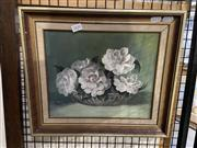 Sale 8978 - Lot 2020 - Eileen Penalver White Camelias, oil on canvas board, 35 x 40 cm, signed lower right
