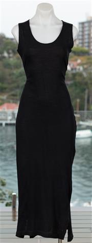 Sale 9044H - Lot 49 - A Morgane Le Fay (England) maxi dress in black wool, Size M