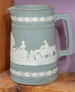Sale 9120H - Lot 110 - A Copeland Spode hunting scene themed water jug, Height 16cm