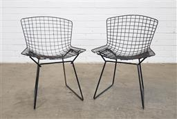 Sale 9146 - Lot 1023 - Pair of Bertoia form dining chairs (h:72 x w:52 x d:47cm)