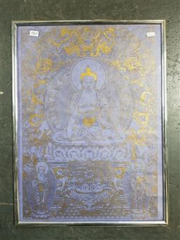 Sale 9155 - Lot 2065 - A paint of the Buddha, 59 x 44 cm -