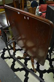 Sale 8087 - Lot 1089 - Victorian Mahogany Tilt-Top Occasional Table, with rectangular top & turned pedestal