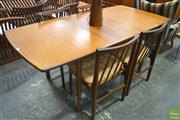 Sale 8260 - Lot 1087 - Danish Teak Dining Table & Set of Four Chairs