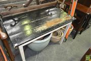 Sale 8257 - Lot 1055 - Painted Timber Kitchen Table