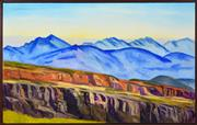 Sale 8374 - Lot 552 - Jeffrey Makin (1943 - ) - Serra Ranges 76 x 122cm