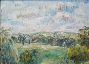 Sale 8484 - Lot 564 - Grace Cossington Smith (1892 - 1984) - The Downs, 1950 15 x 20.5cm