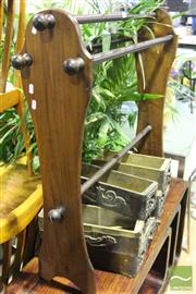 Sale 8499 - Lot 1064 - Timber Towel Rail