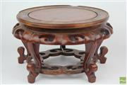 Sale 8529 - Lot 103 - Large Chinese Timber Vase Stand