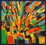 Sale 8575 - Lot 563 - Kevin Charles (Pro) Hart (1928 - 2006) - Abstract in Green, 1978 90.5 x 90.5cm