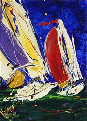 Sale 8764 - Lot 575 - Dean Vella (1958 - ) - With the Wind 37.5 x 27.5cm