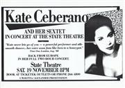 Sale 8766A - Lot 5048 - Kate Ceberano And Her Sextet In Concert - screenprint