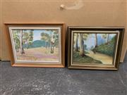 Sale 9008 - Lot 2047 - 5 Works: A Pair of Australiana oil paintings together with three decorative prints of children
