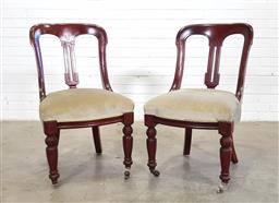 Sale 9151 - Lot 1272 - Pair of timber chairs (h89 x w52 x d57cm)