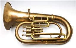 Sale 9255S - Lot 24 - A brass decorative Trumpet inscribed Bessons & Co London