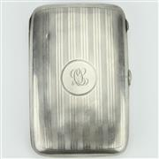 Sale 8264 - Lot 36 - English Hallmarked Sterling Silver George V Cigar Case